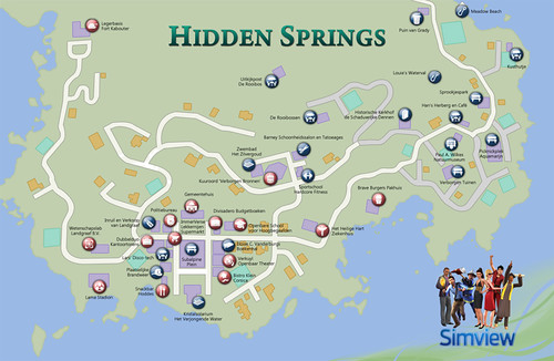 SimView and A Map of Hidden Springs