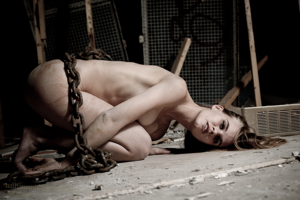 naked chained up woman