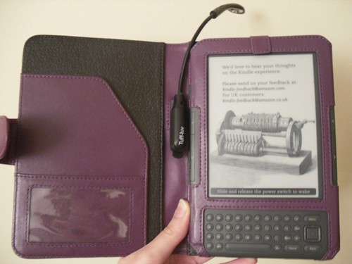 Inside cover with light attached ready to use