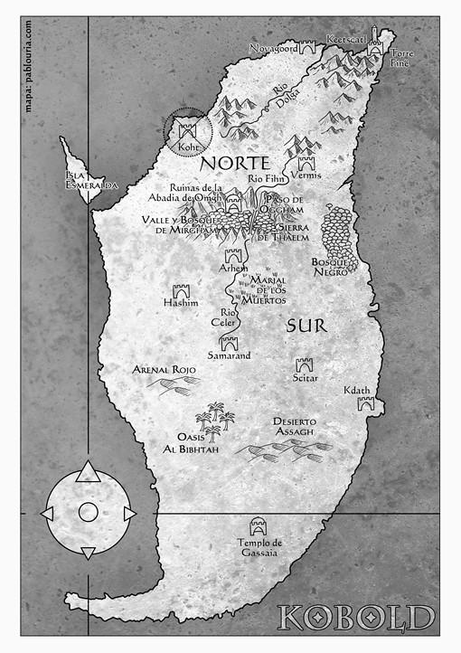 Mapa de Kobold, señor de las cadenas, Alfredo Álamo y Ediciones Torre de Marfil, pablouria.com