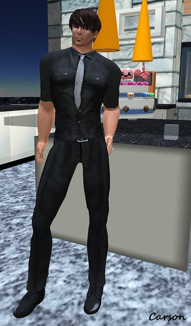 American Bazaar - Black Chiffon Shirt and Black Glam Pants