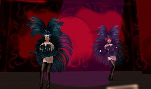 Dancers on stage at the Eldorado