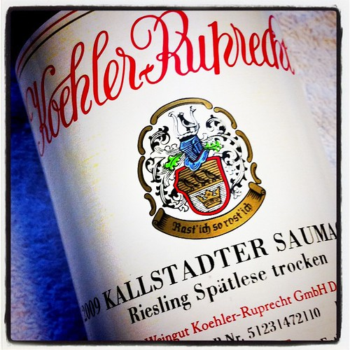 Koehler-Ruprecht Kallstadter Saumagen Spatlese Trocken Riesling 2009