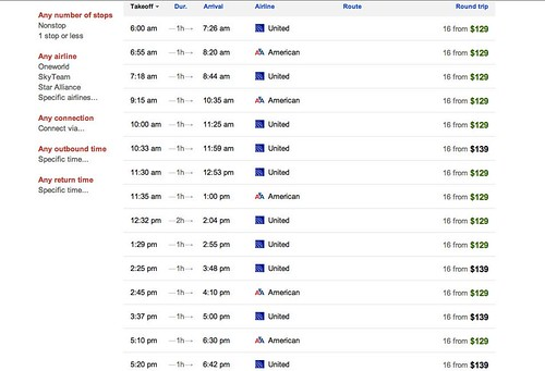SFO LAX no DL GOOG flight search