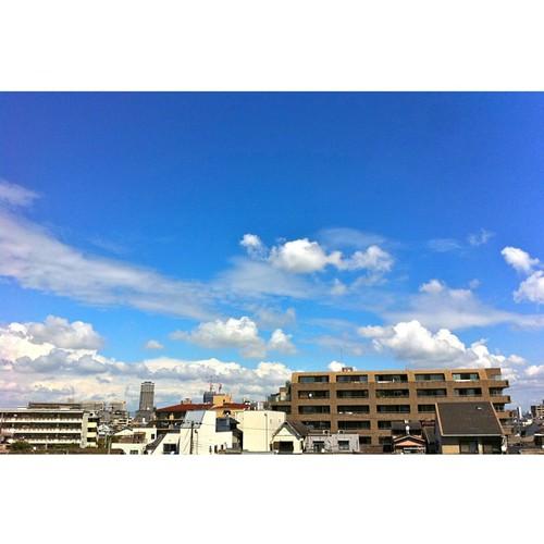 今日もイイ天気だね! #sky #iphonography #instagram