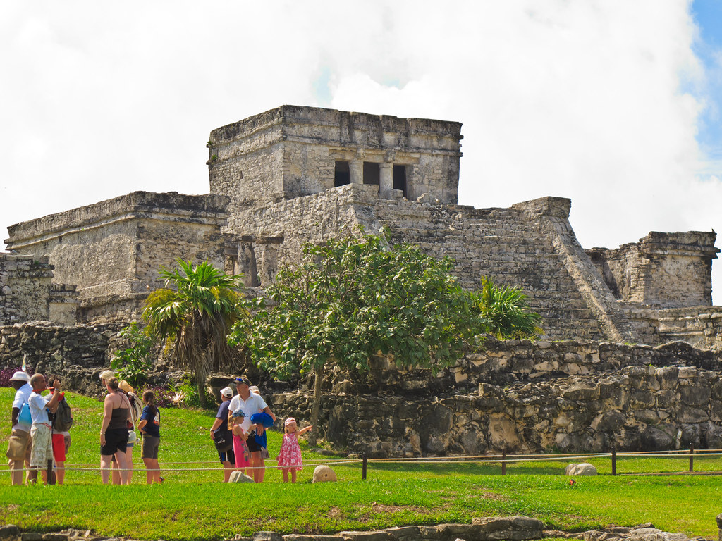 View of the Tulum ruins