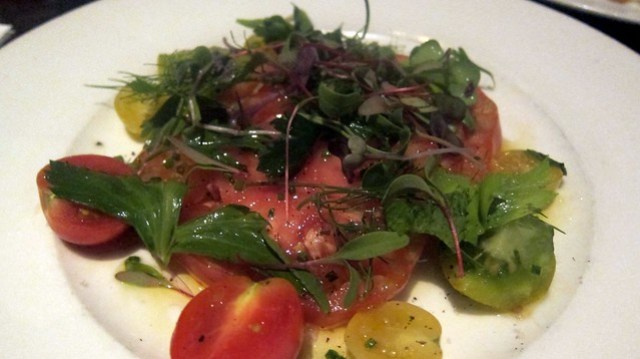 heirloom tomato plate at one eared stag