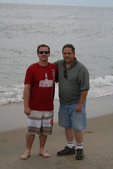 Sean and Brian on the beach