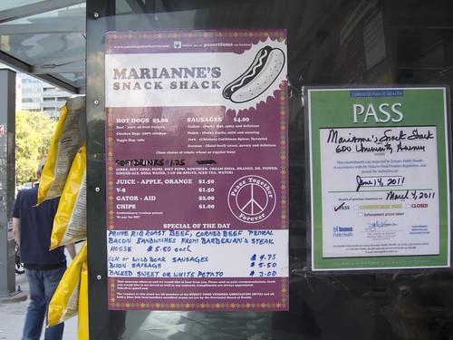 Marianne's menu