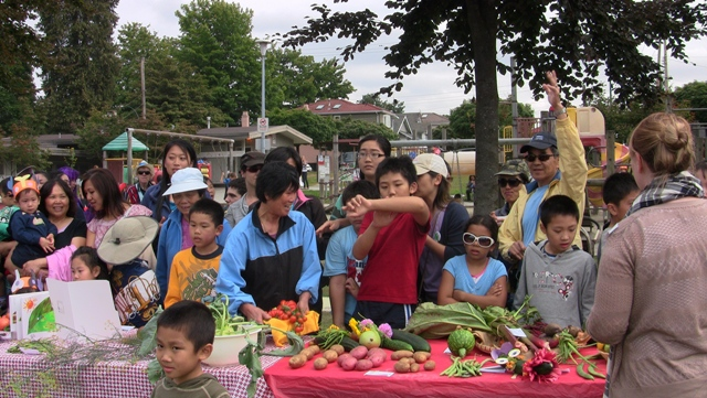 vegetable contest Vancouver community garden