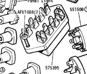 LAND ROVER SERIES 3 FUSE BOX  Auto Electrical Wiring Diagram