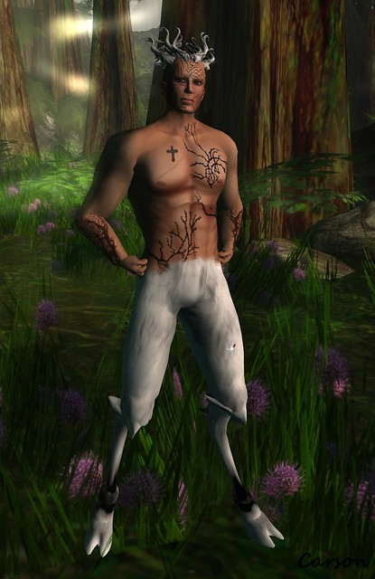Gilded - Unseelie Hair, White Satyr Legs,  LaVie - Beastly Skin