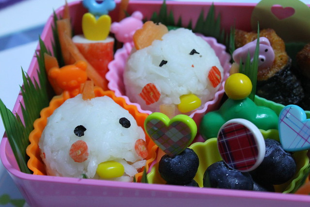 Rooster and Hen Bento for her