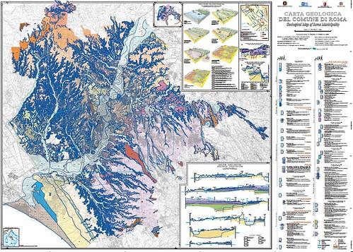 Roma - Carta Geologica del Comune di Roma / Geological Map of the Municipality of Roma (scala /scale 1:50000). Coordinamento scientifico: R. Funiciello, G. Giordano, M. Mattei. Stampa / Printed 2008. [PDF pp. 1-2]  by Martin G. Conde