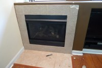 Installing new tile around Gas Fireplace - Have Question