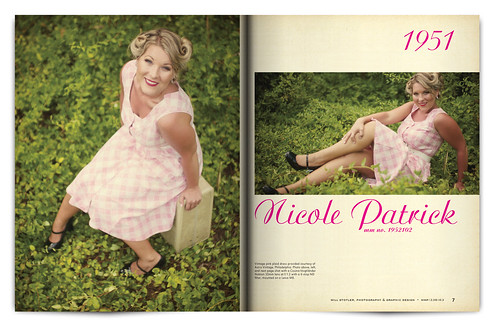 Vintage Magazine Spread Design Project - Pgs. 6 & 7