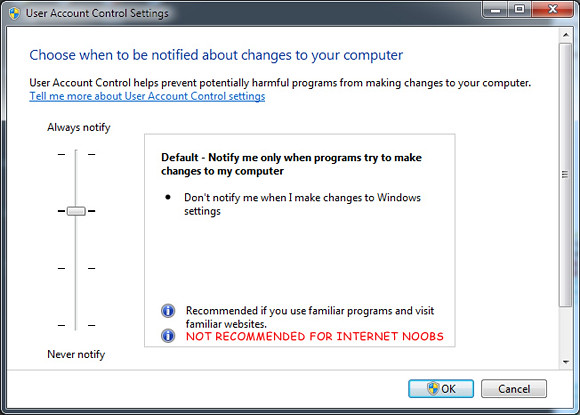 How-to Change Windows 7 User Access Control