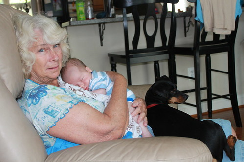 Sagan - August 20 - With Grandma and Willie
