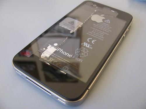 iPhone 4 transparent back