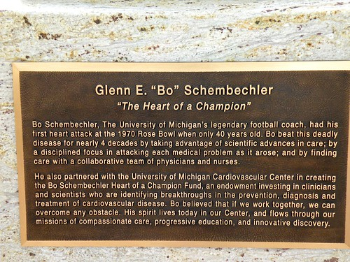 Bo Schemechler's Plaque
