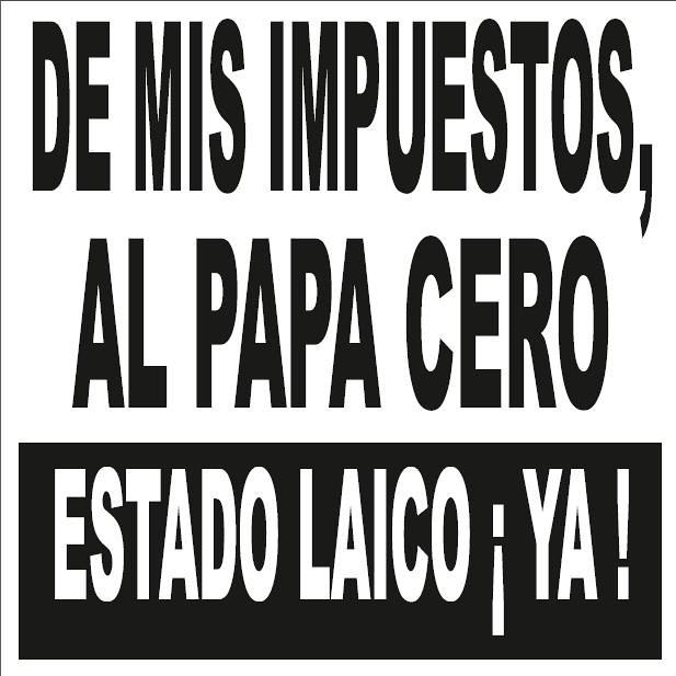 cartel contra la visita papa