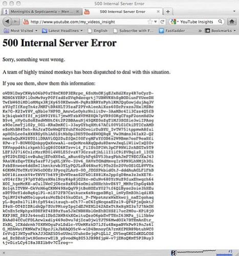 youtube 500