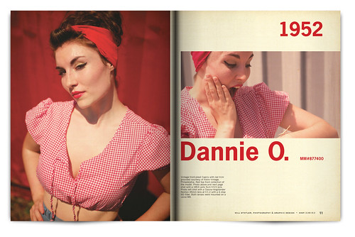Vintage Magazine Spread Design Project - Pgs. 10 & 11