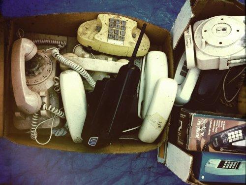 Box of crusty phones