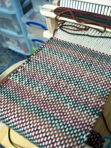 First weaving close up