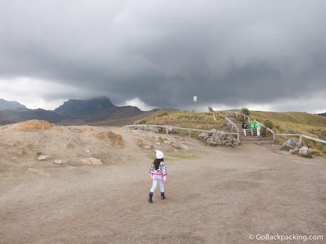 Storm clouds over Pichincha Volcano