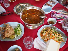 Tom yum soup, Vangmekong, Vientiane