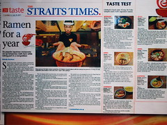 Straits Times Article on The Ultimate Ramen Champion Singapore 2011, Illuma, Bugis