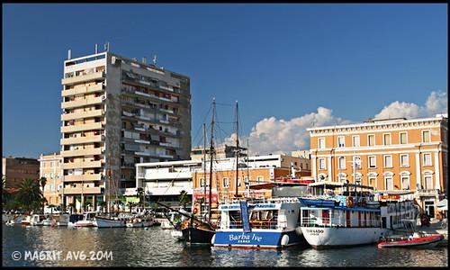 Zadar, a view on marina