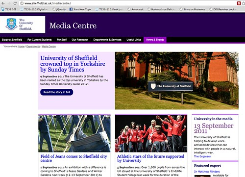 Sheffiled u media site