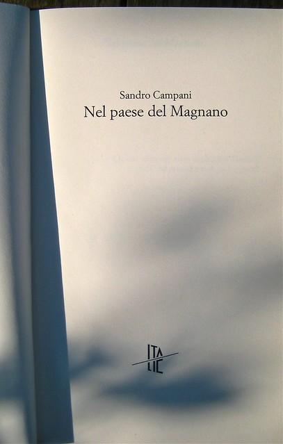 Sandro Campani, Nel paese del Magnano; italic 2010; Grafica di copertina di Giordano Giunta. frontespizio (part.), 1