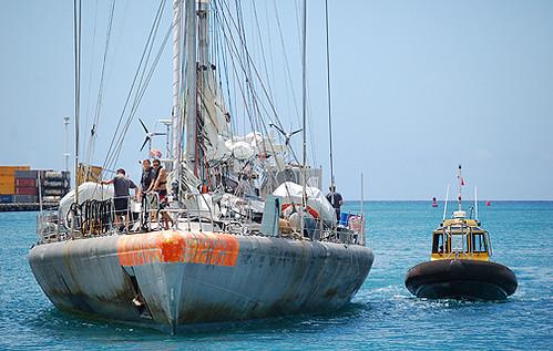 Tara and pilot boat