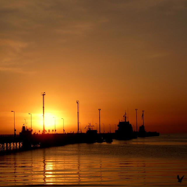 Sale el sol en Puerto Madryn