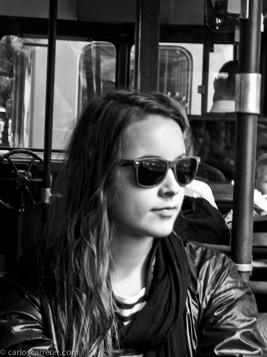 En el tranvía de Skansen