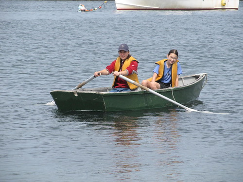 rowing the skiff