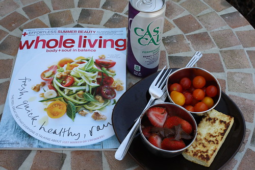 Whole Living magazine, Cascal Berry, tofu, strawberries, tomatoes