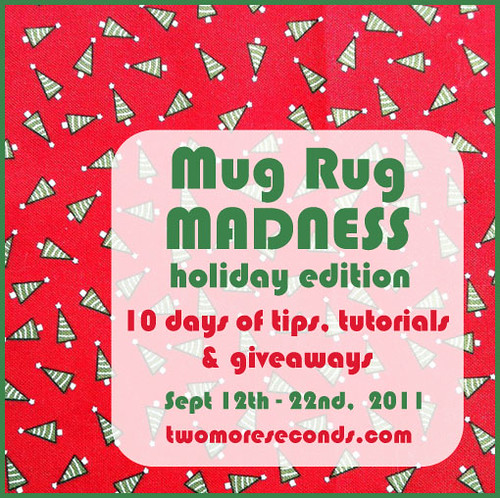 Mug Rug Madness Round 2 : holiday edition!