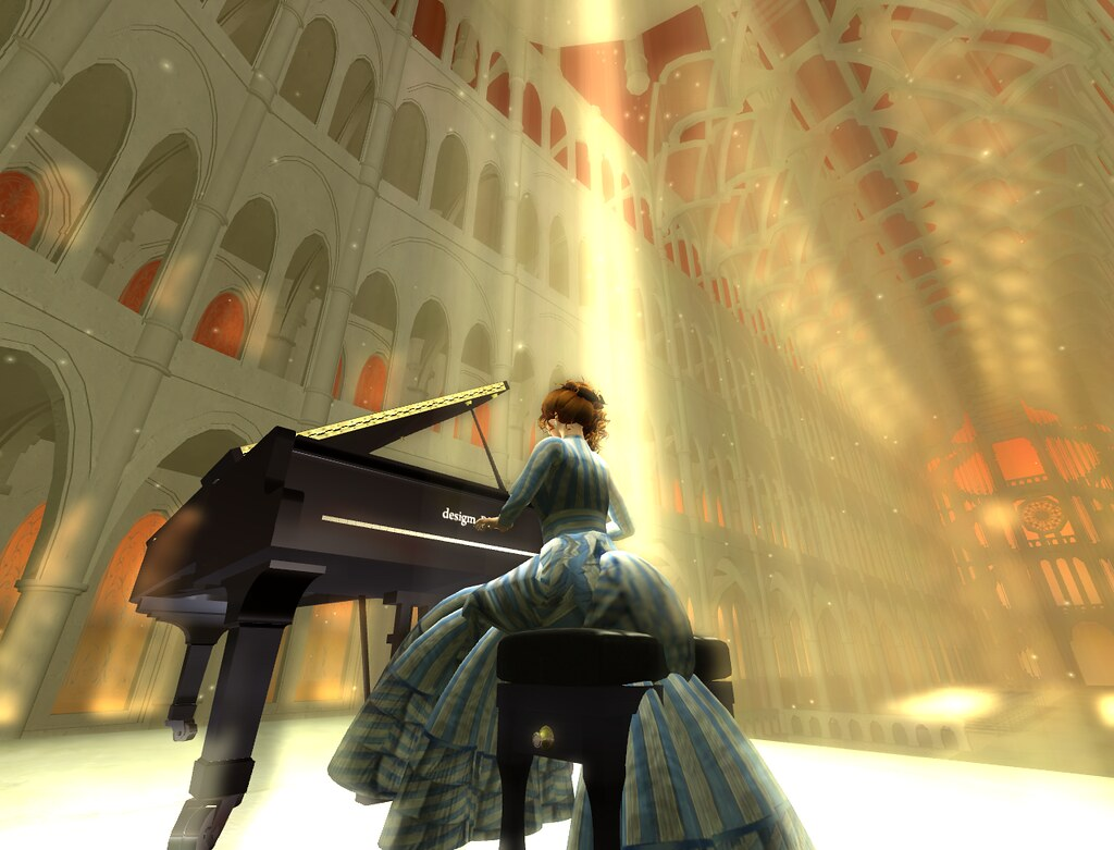 I play the piano in a grand cathedral.