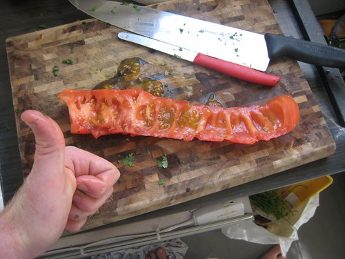 filleting a tomato