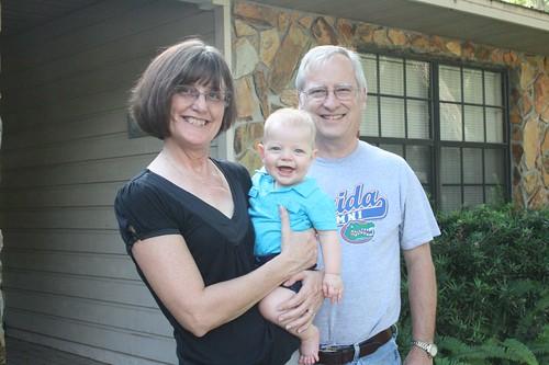 Baby E with Nana and Papa D