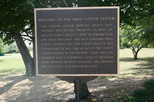NASA visitor center sign