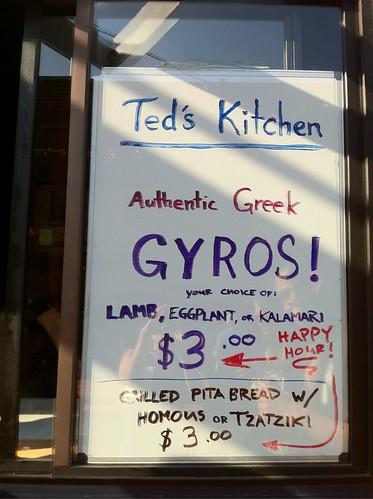 Teds Kitchen Happy Hour
