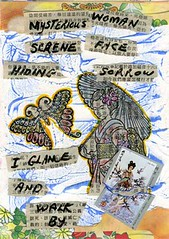 Art Journal Page, Japanese Haiku Theme