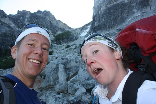 Scott and Me, at the Bottom of Aasgard Pass, Starting Up