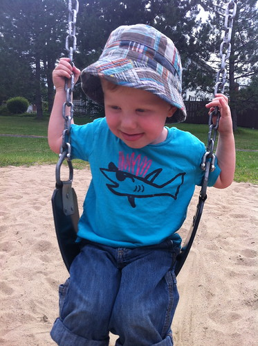 On the big kid swing
