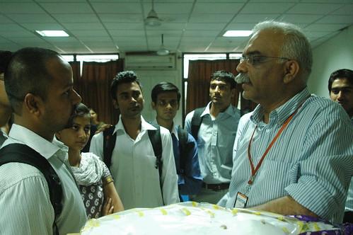 Amit Shahi, interacting with students at IWSB